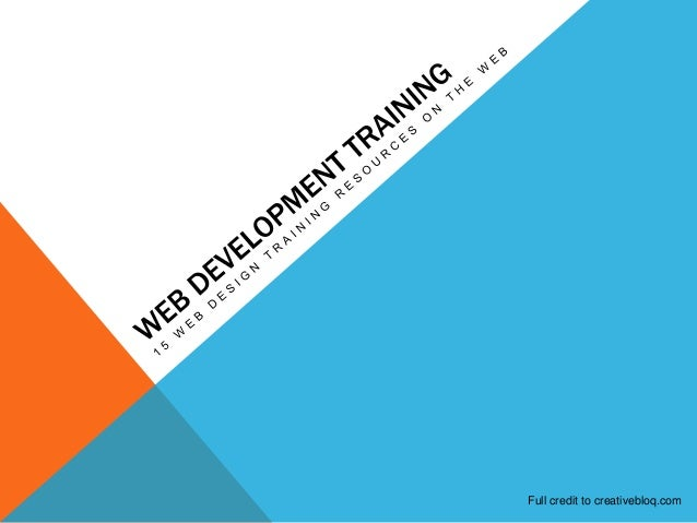 Web Designing and Development Training Resources