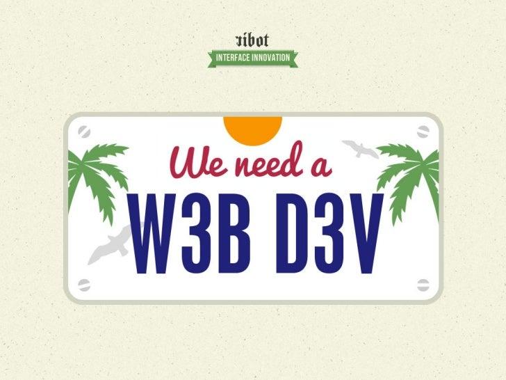 We need a web dev!