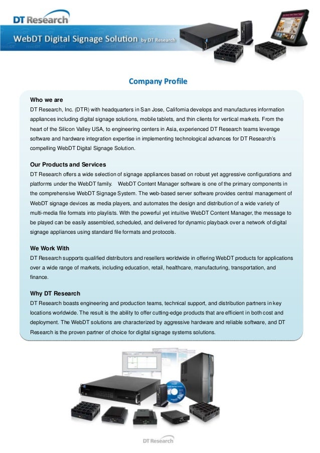 WebDT Digital Signage Solution by DT Research
