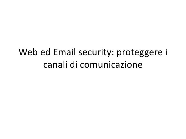 Web Ed Email Security Ppt