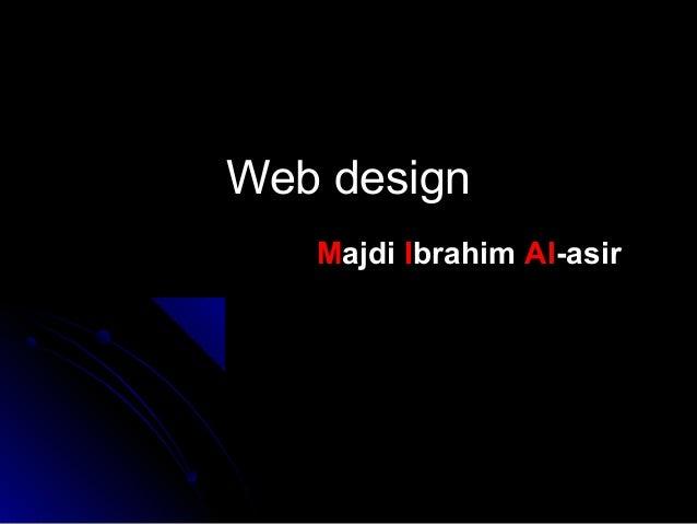 Web design Majdi Ibrahim Al-asir