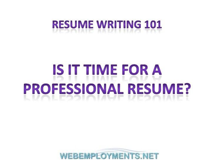 Webemployments.net resume writing 101