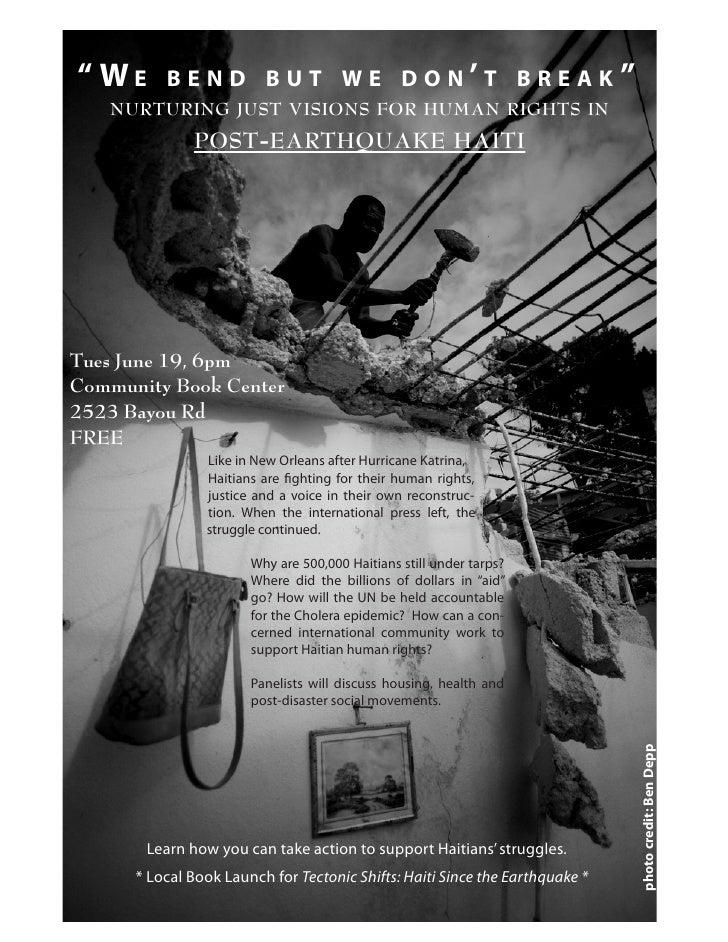 We Bend but We Dont Break Post Earthquake Haiti 061912