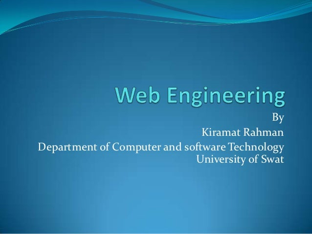 Web engineering lecture 1