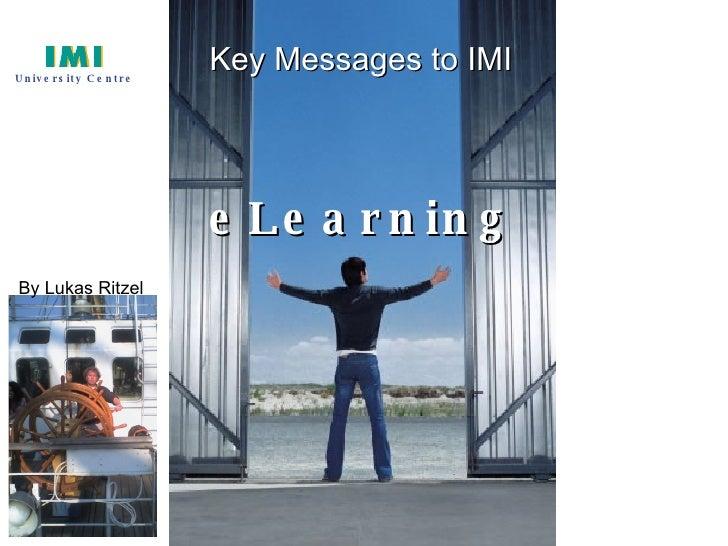 Webenhanced teaching for IMI faculty