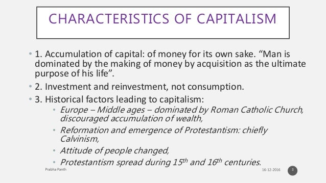 protestantism and capitalism Protestant ethic: protestant ethic, in sociological theory  is an apparent connection between protestantism and the rise of capitalism.