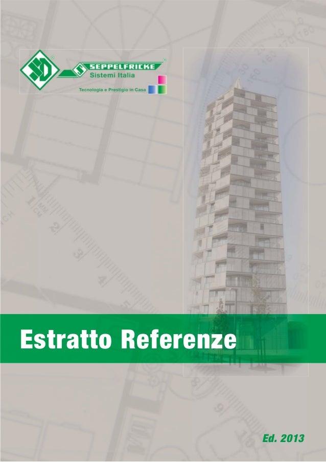 Estratto Referenze Ed. 2013