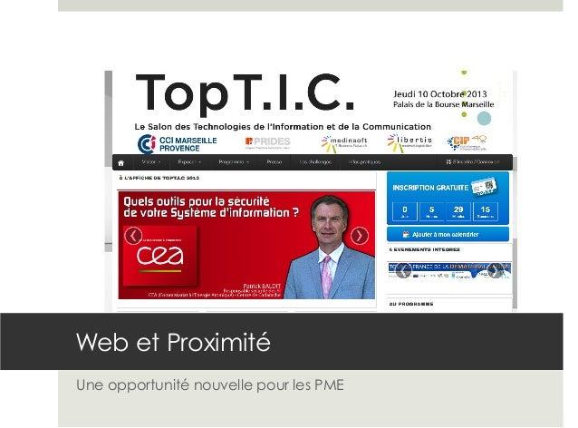 Web et Proximité Une opportunité nouvelle pour les PME