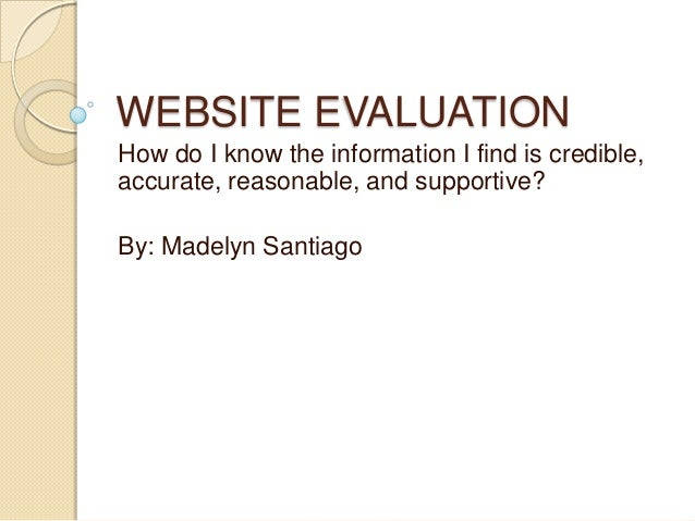 Web evaluation presentation
