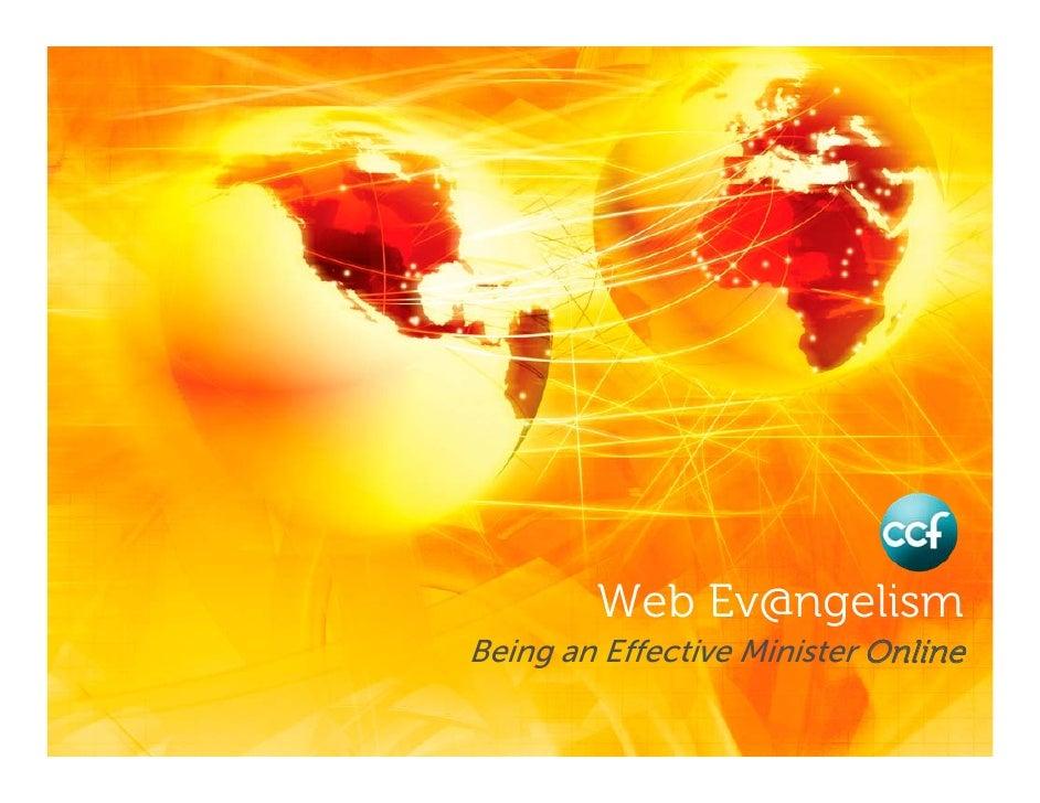 Web Ev@ngelism Being an Effective Minister Online