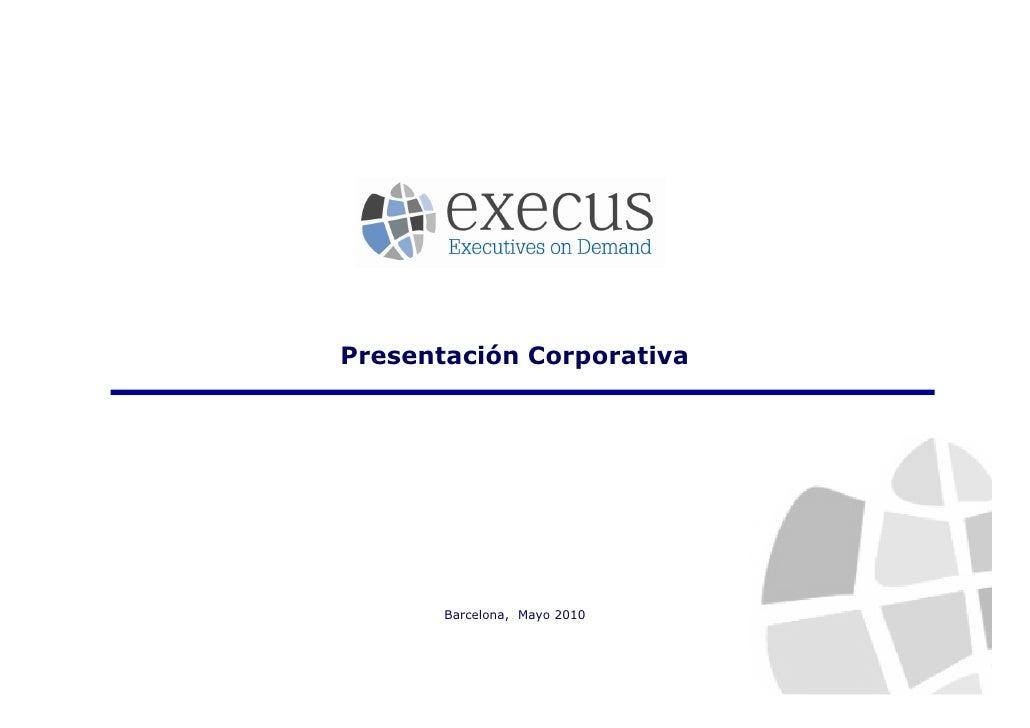 Web Execus - Presentación Corporativa