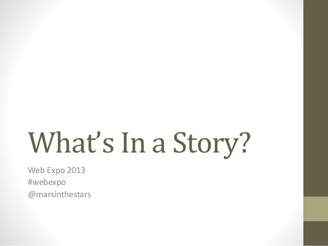 Marli Mesibov - What's in a Story?