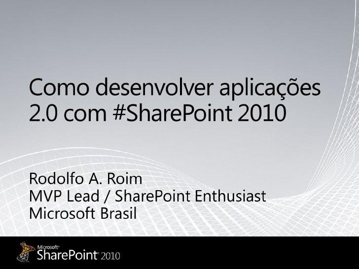 Web Expo Forum2010 Rodolfo Roim