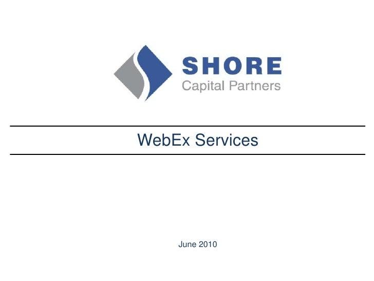 Web Ex Presentation