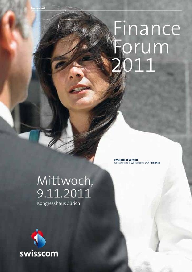 Fachevent                         Finance                         Forum                         2011   Mittwoch,   9.11.20...
