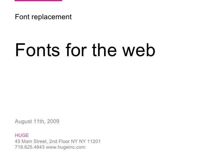 Web Font Replacement