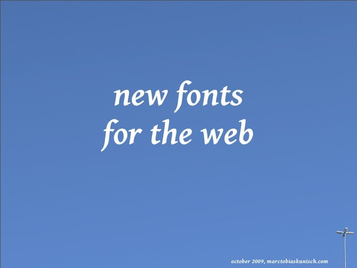 new fonts for the web