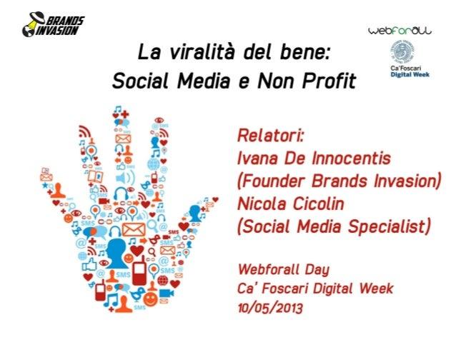La Viralità del Bene: Social Media e Non Profit
