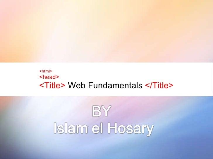 Web Fundamentals