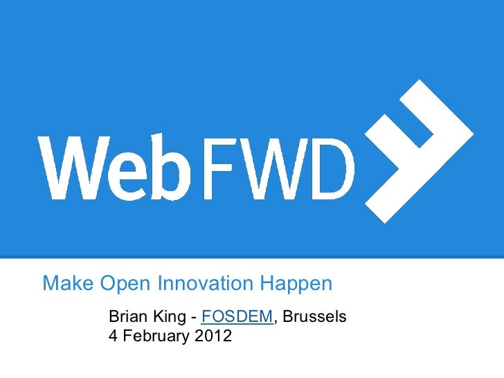 Mozilla WebFWD Overview