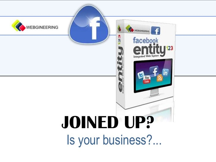JOINED UP?<br />Is your business?...<br />