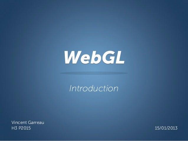 Introduction au WebGL