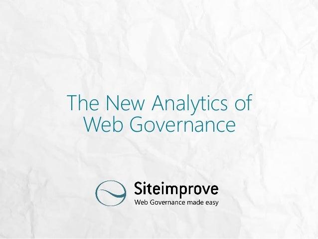 The New Analytics of Web Governance