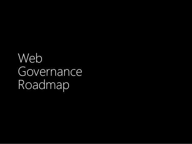 Web Governance Roadmap