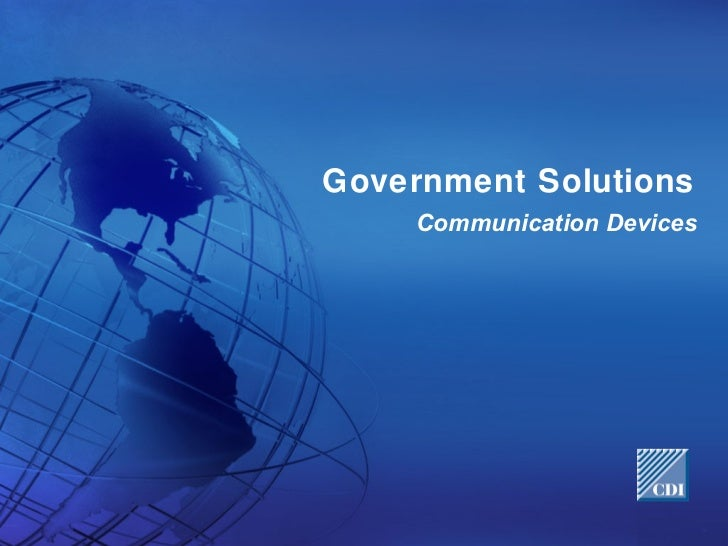 CDI Solutions for Government Networks