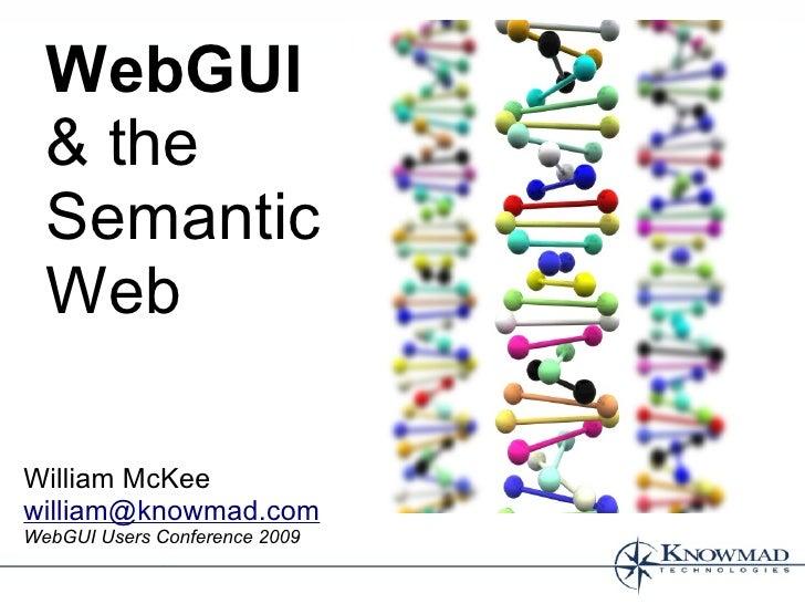 WebGUI And The Semantic Web