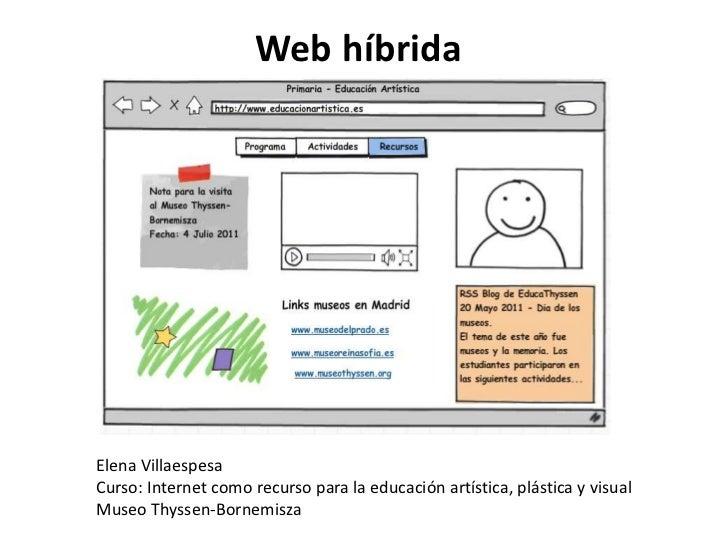 Webhíbrida<br />Elena Villaespesa<br />Curso: Internet como recurso para la educación artística, plástica y visual<br />Mu...