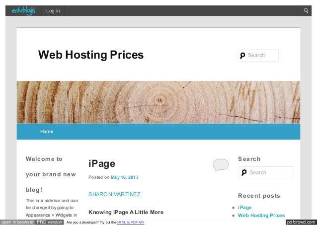 Webhostingprices edublogs org