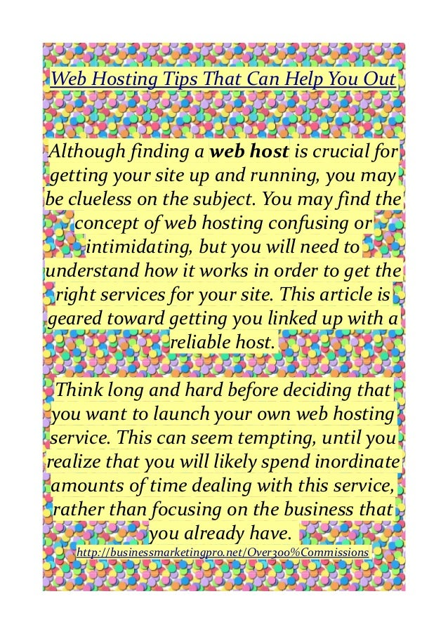Web hosting tips that can help you out