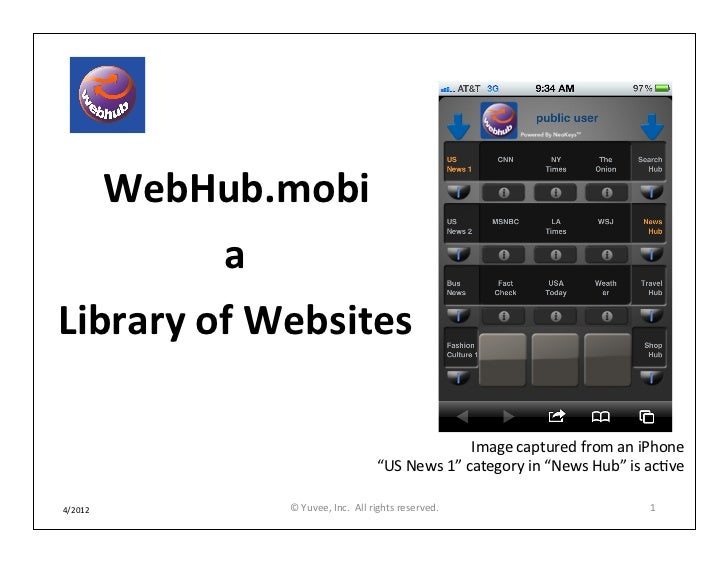 WebHub.mobi - A Library of Websites