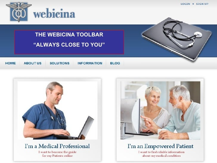 The Webicina Toolbar : Quality Medical Information Close To You
