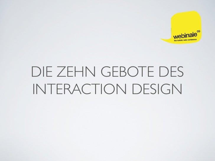 Die zehn Gebote des Interaction Design