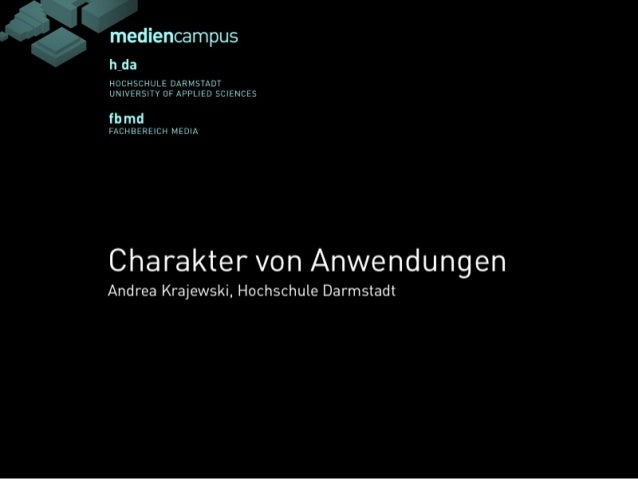 """Vortrag Prof. Krajewski, Webinale14: """"Anwendungen sollten Charakter haben"""""""