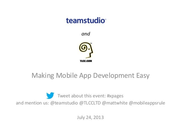 Making Mobile App Development Easy