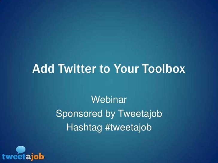 Webinar: Twitter For Recruiters
