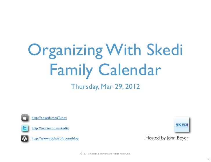 Organizing With Skedi Family Calendar