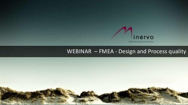 WEBINAR – FMEA - Design and Process quality