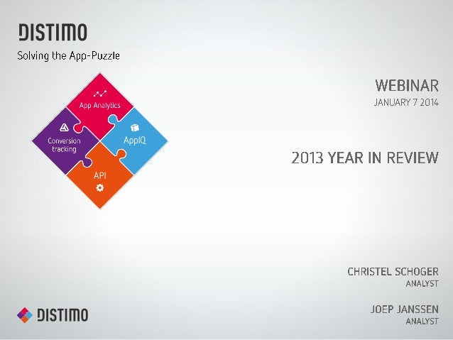 Distimo Webinar : 2013 Year in Review
