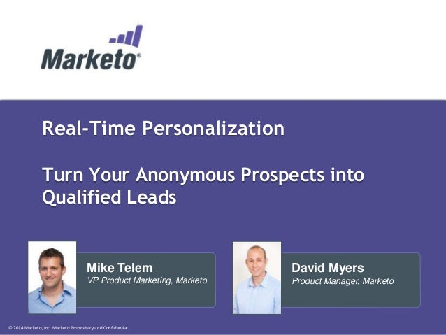Real-Time Personalization - Turn Your Anonymous Prospects into Qualified Leads