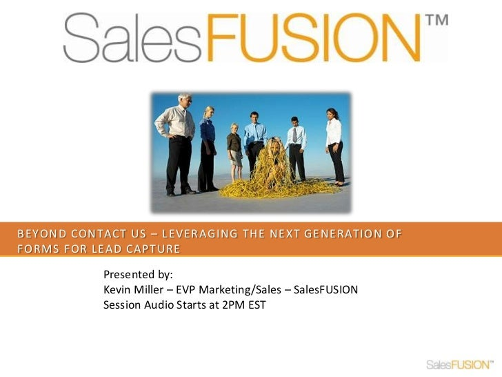 Webinar   beyond contact us - Leveraing the next generation of lead capture forms