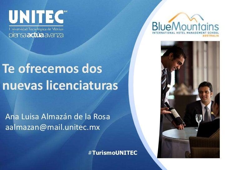 Carreras de Turismo en la UNITEC