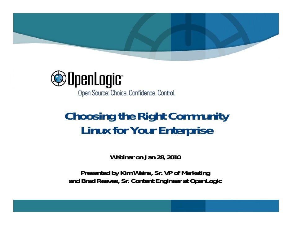 Choosing the Right Community Linux for Your Enterprise