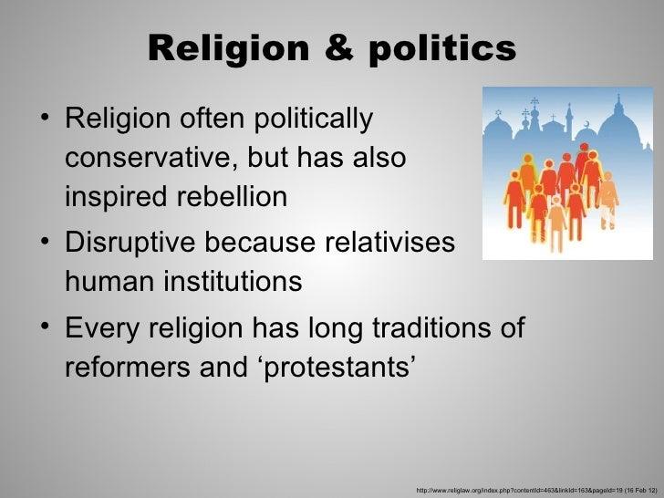 Do politics and religion mix essay