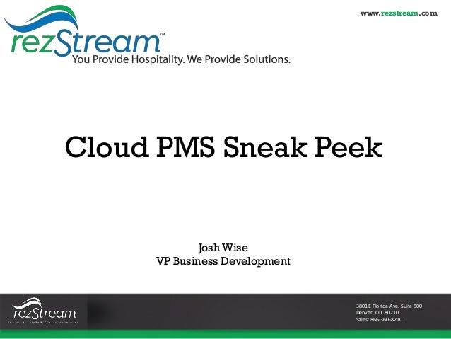 Webinar: Cloud PMS Sneak Peek