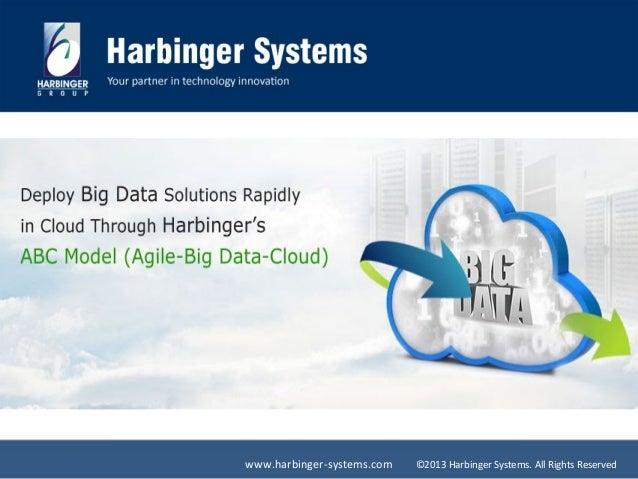 Deploy Big Data solutions Rapidly in Cloud through Harbinger's ABC model (Agile-Big Data-Cloud)