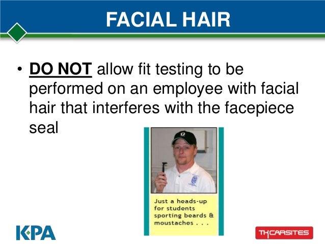 Facial hair fit test